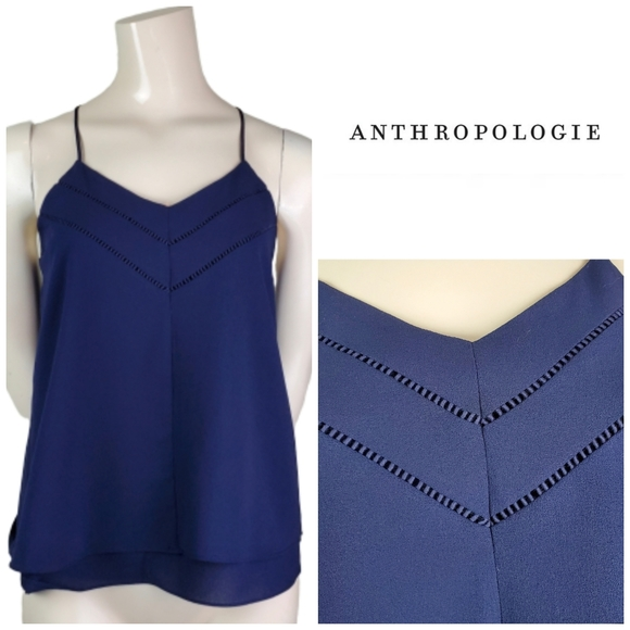 Anthropologie Tops - ☀ ANTHRO Paper Crane V Neck Layered Tank Top